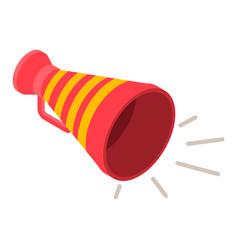 red yellow megaphone icon isometric style vector image