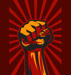 revolution fist up vector image