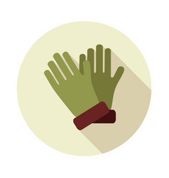 rubber garden gloves flat icon vector image