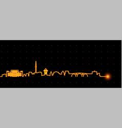 sarajevo light streak skyline vector image