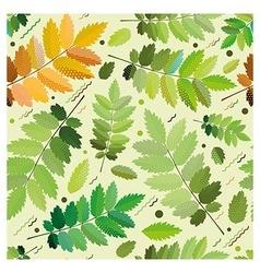 Seamless green foliage for printi vector