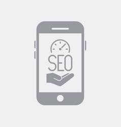 Seo performance analyzer service on smartphone vector