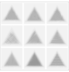set striped abstract forms vector image