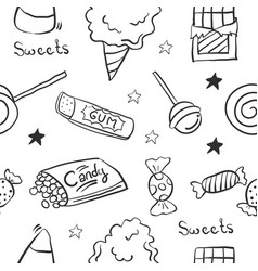 sketch sweet candy of doodle vector image