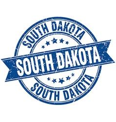 South Dakota blue round grunge vintage ribbon vector