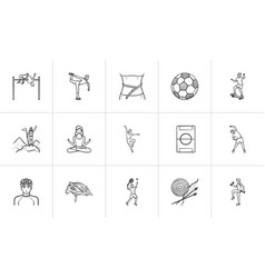 Sports and fitness hand drawn outline doodle icon vector