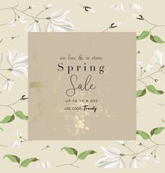 Spring sale advertising banner template sticker vector