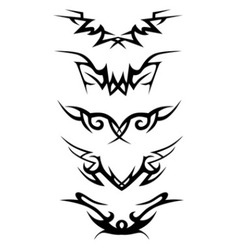 Tattoo tribal set vector