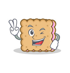 Two finger biscuit cartoon character style vector