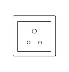 Type d socket ac power socket icon india country vector