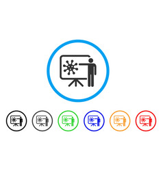 Virus presentation board rounded icon vector