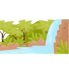 waterfall in tropical jungle natural landscape vector image
