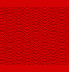 wave pattern red chinese seamless pattern vector image