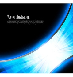 Bright blue tech backround vector image