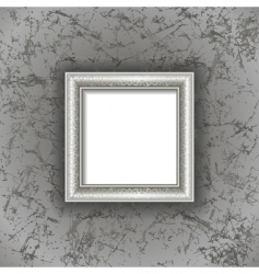 frame on textured background vector image vector image