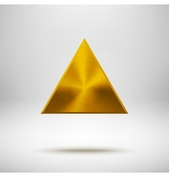 Gold abstract triangle button template vector