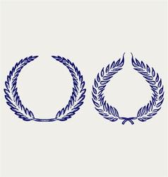laurel wreath vector image vector image