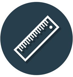 Ruler in circle line icon vector