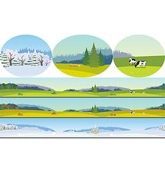 Seamless Long Landscape vector image