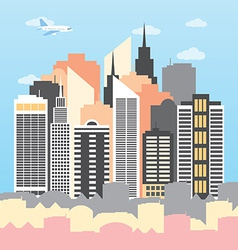 a city on a Sunny day vector image vector image