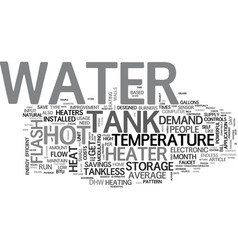 a tankless water heater can save you a lot on hot vector image vector image