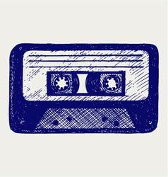 Audio cassette tape vector image