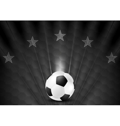 Black abstract soccer football background with vector image vector image