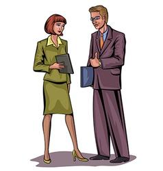 couple businessmen vector image vector image