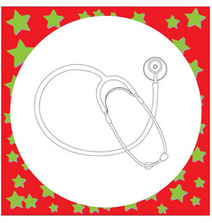 medical stethoscope vector image