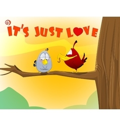 sweet love birds vector image vector image