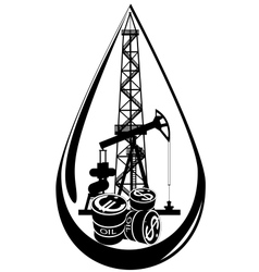 The oil business vector image vector image