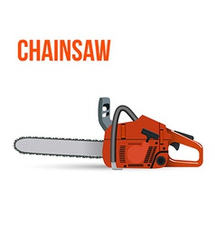 Chainsaw isolated on white background vector image