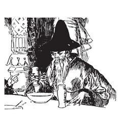 magician vintage vector image