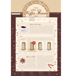 template site coffee shop vector image vector image