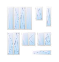 windows and doors charts vector image