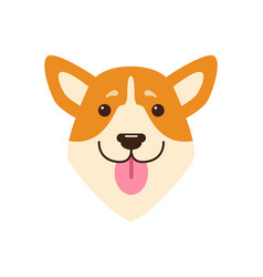 dogs head with pink tongue vector image vector image