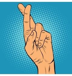 Fingers crossed the lie doubt true vector image vector image