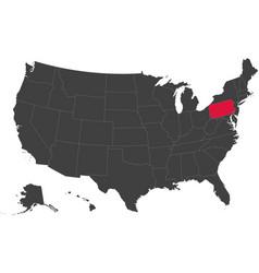 Map of usa - pennsylvania vector