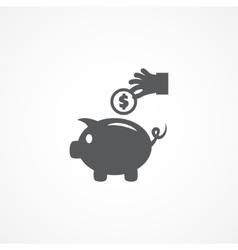 Piggy money bank icon vector image