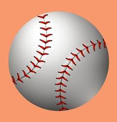 Plain baseball on orange background vector image vector image