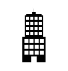 silhouette building line sticker image vector image vector image