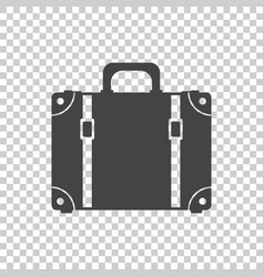 Suitcase flat on isolated background case for vector