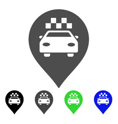 taxi car marker flat icon vector image