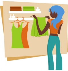 urban shopping girl vector image