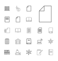 22 book icons vector