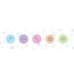 5 isometric icons vector