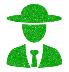 Agronomist chief icon grunge watermark vector