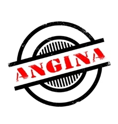 Angina rubber stamp vector
