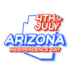 arizona state 4th july independence day with vector image