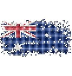 Australian grunge tile flag vector